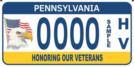 Honoring Our Veterans License Plate Image