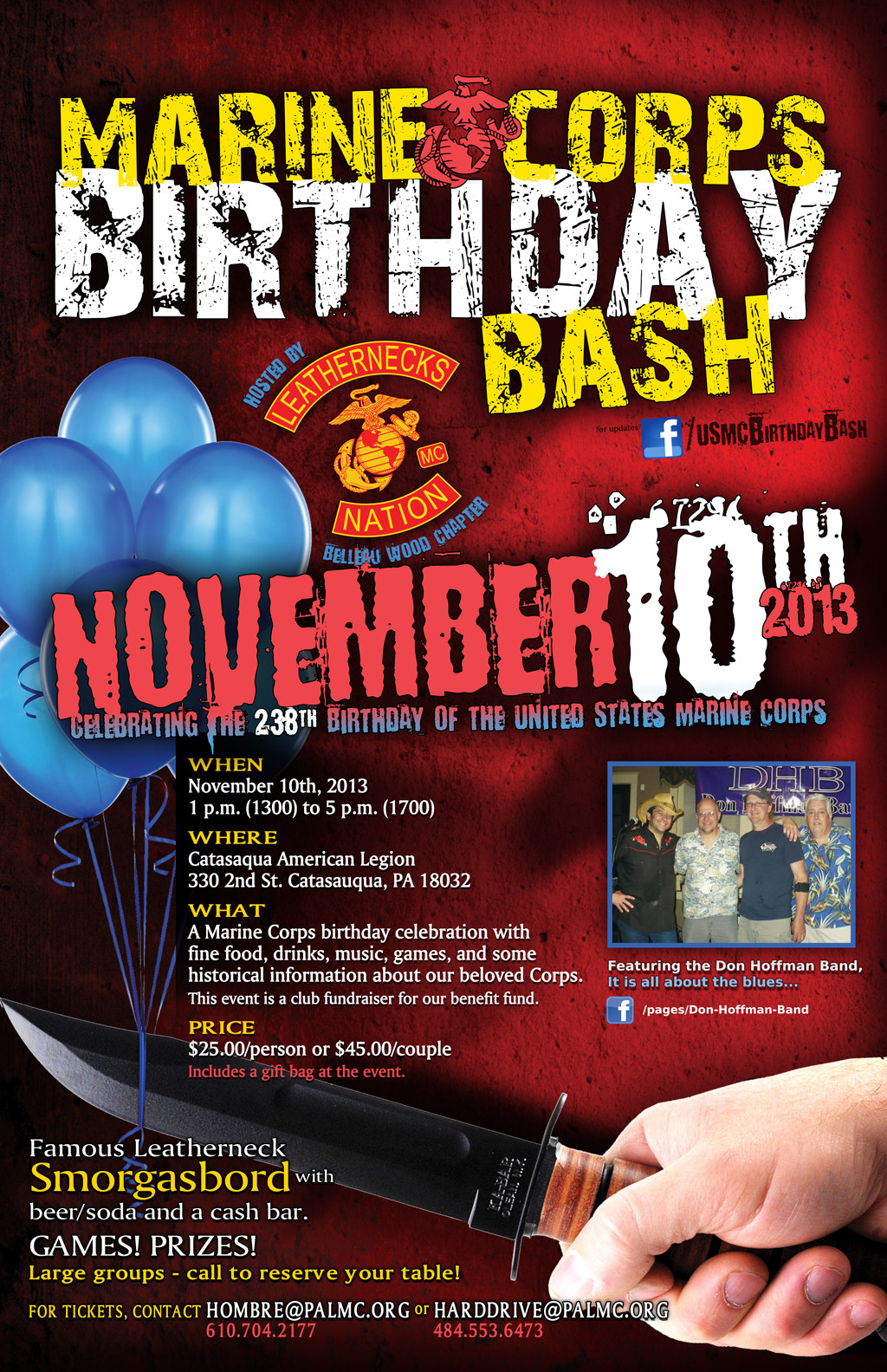 Lvmac tidbit local leathernecks bash marine corps birthday leatherneck mc usmc birthday bash flyer 10nov2013 bookmarktalkfo Gallery