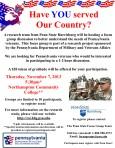 PA Veterans Needs Assessment FG Flyer NCC 7Nov2013