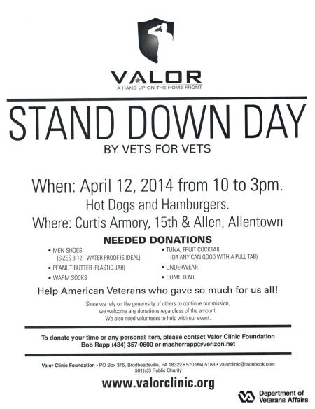 VALOR Clinic Mini-Stand Down 12Apr2014
