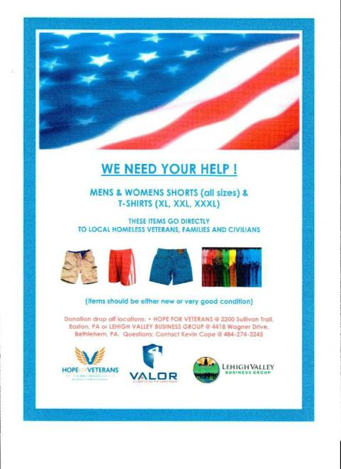 VALOR Clinic Foundation -  Hope for Veterans Clothing Flyer May 2014