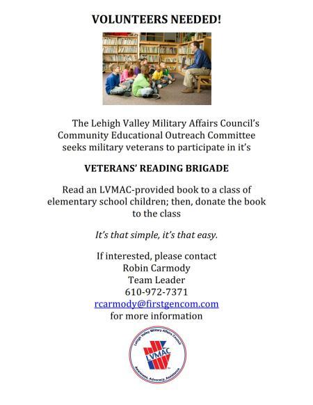 Veterans Reading Brigade Flyer August2014