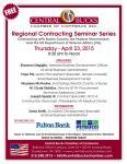 SBA Regional Govt Contracting Workshop Flyer 23Apr2015