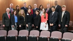 Some of the participants at Press Conference (from left to right): 1st row:  Gerald Still, Pres. LVMAC; Cynthia Bauer, Good Sheperd; Andrea Grunberg, Heartland Hospice; Judith Sabino, LVHN; Holly Edinger, Sacred Heart; Trishann Green, Easton Hospital; Dr. Mirzar Ali, Chief of Staff, Wilkes-Barre VA Medical Center; Daniel Vidal, Health Net Federal Services; 2nd row: Rich Hudzinski, LVMAC; Janet Daley, Heartland Hospice; Eric Johnson, Jr., Co-Chair; Velda Mescher, SLUHN: Alexander Alex, Co-Chair; Florence Brown, Coordinated Health; Rep. Charles Dent, Chair, House Appropriations Subcommittee for Veterans Affairs ...; Ronald Steptoe, CEO, Steptoe Group