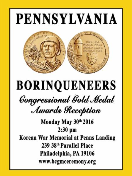 Borinqueneers Congressional Gold Medal Awards Receptio 30May2016